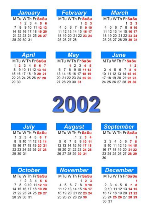 August 2002 Calendar Calendar 2002 To Print And In Pdf Abc Calendar