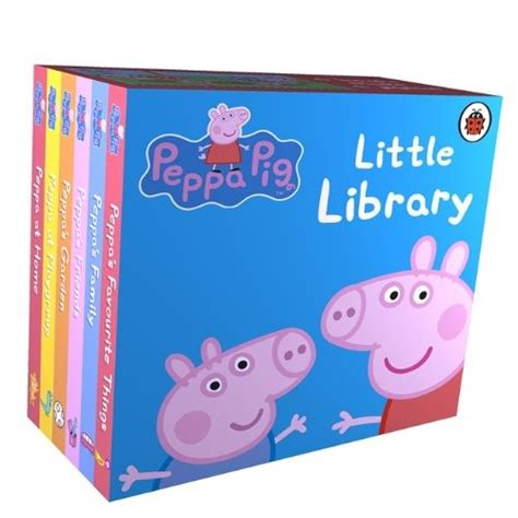 learning to peppa pig books peppa pig library a mighty