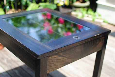 shadow box end table ebonized oak shadow box end table by chad lumberjocks