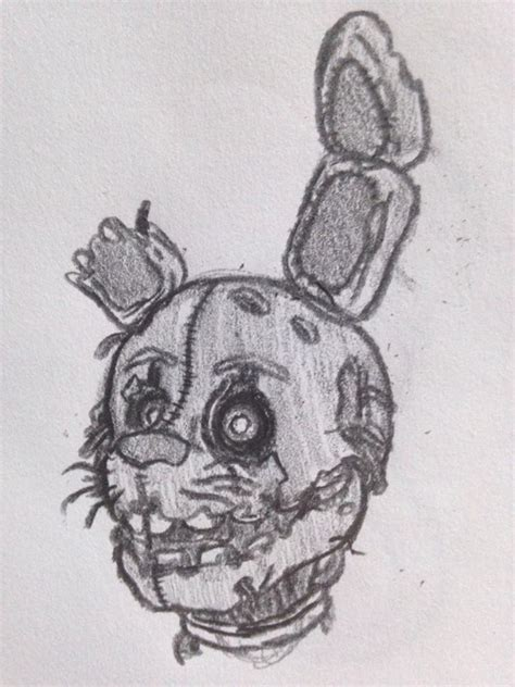 Springtrap Drawing a springtrap drawing by lazerfacechaser on deviantart