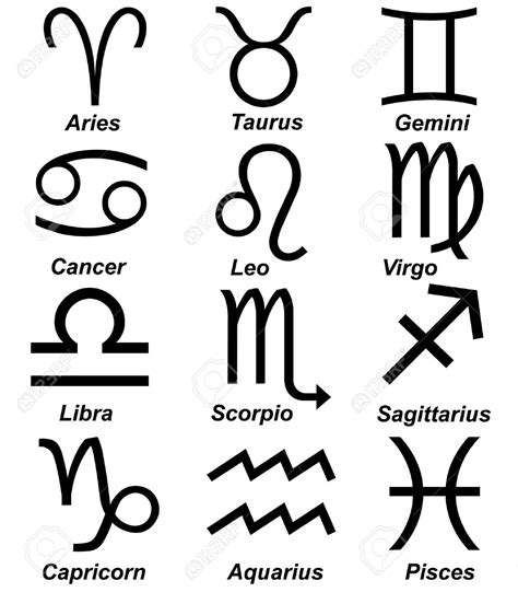 astrological sign zodiac clipart astrological sign pencil and in color