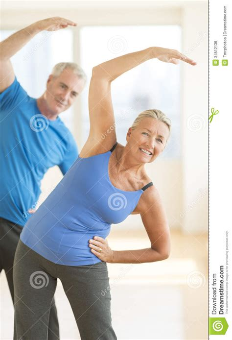 doing exercise at home royalty free