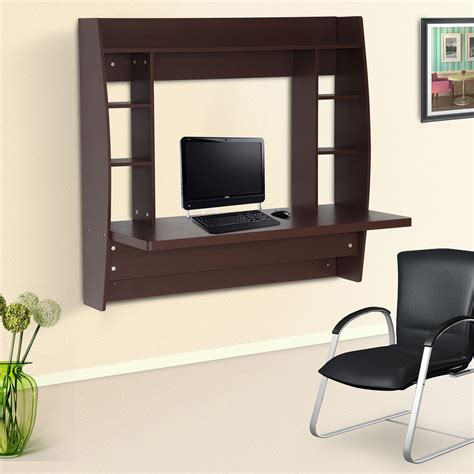 Homcom Office Computer Table Floating Wall Mount Desk Wall Office Desk