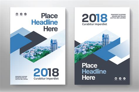 vector leaflet design eps 2018 flyer and cover brochure template vector 08 vector