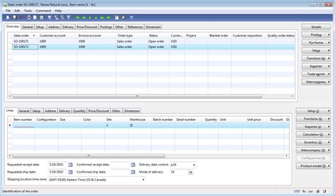 sales order form create sales order in microsoft dynamics ax dynamics ax