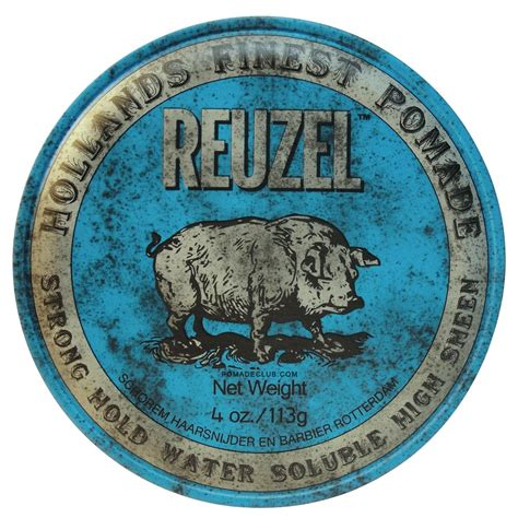 Pomade Chief Blue Waterbased 1 reuzel blue strong hold water based pomade 4oz