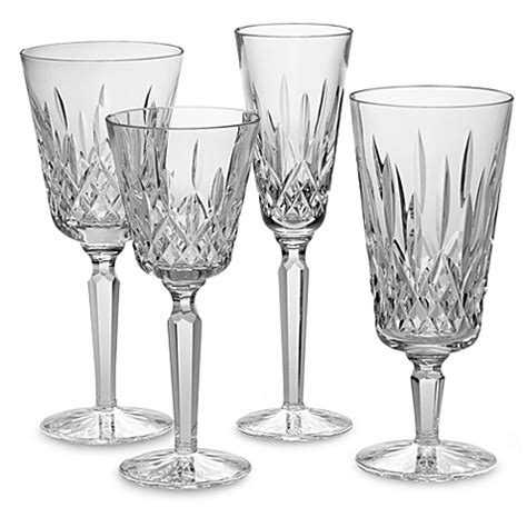 bed bath and beyond waterford waterford 174 lismore tall crystal stemware bed bath beyond