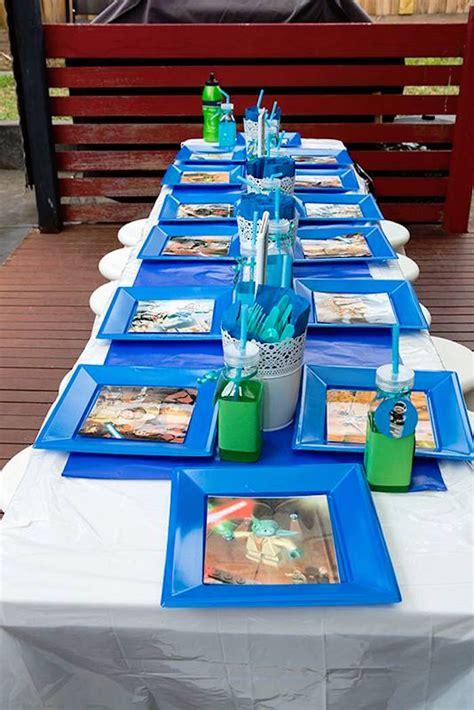 Wars Table Decorations by Kara S Ideas Wars Lego Birthday Kara S