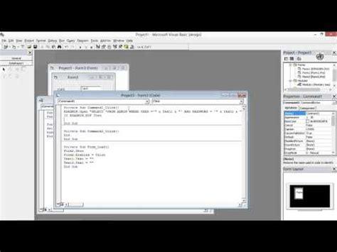 membuat database rekam medis totorial 7 cara membuat from login dgn visual basic 6