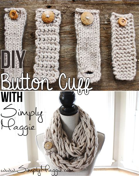 diy arm knitting infinity scarf diy button cuff for infinity scarf why couldn t you make