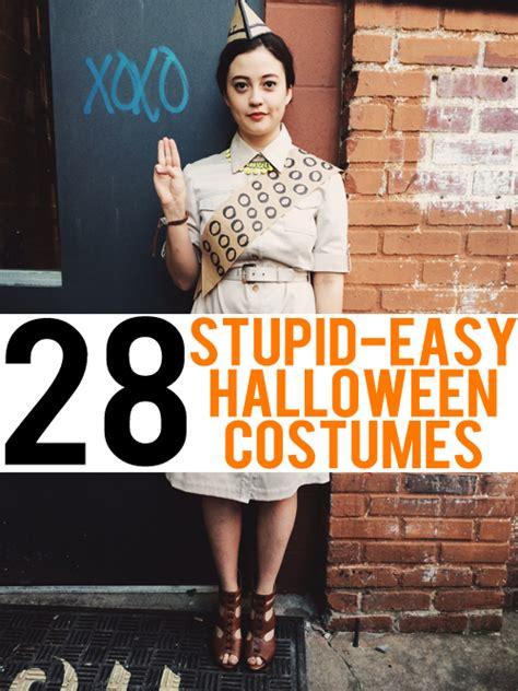 stupid easy halloween costumes
