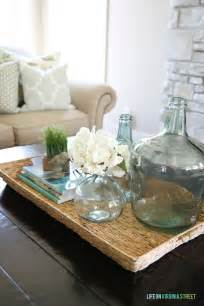 glass coffee table decor summer home tour on virginia