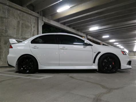 white mitsubishi lancer with black rims official wicked white evo x picture thread page 140