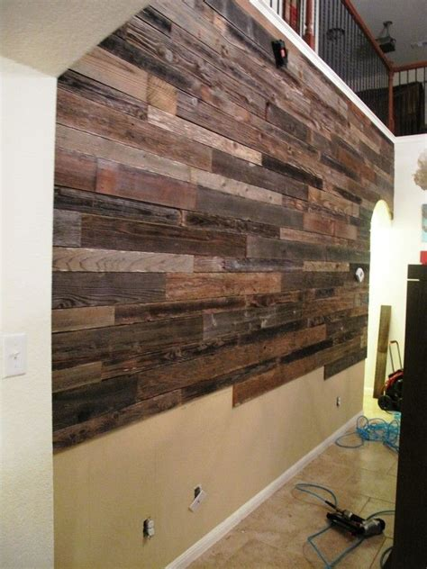 create a faux wood pallet wall wendy james designs these guys used reclaimed wood to make a beautiful accent