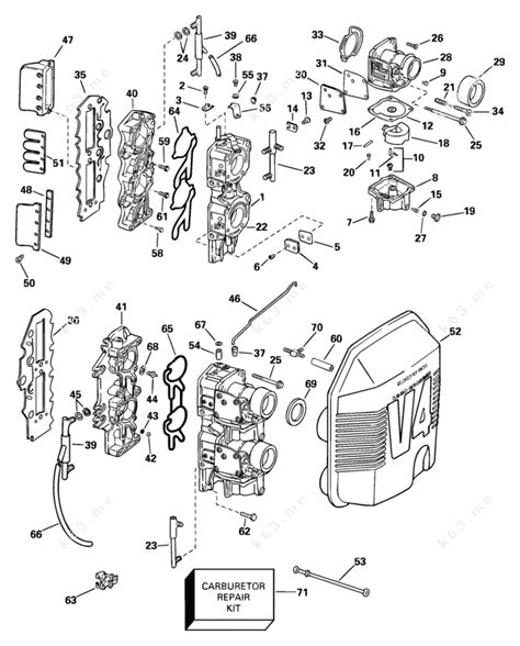 Johnson 2003 115 J115glsta Carburetor Amp Intake Manifold