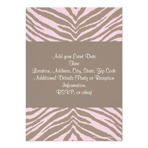 light pink and brown wedding invitations light pink and brown zebra bow baby shower paper