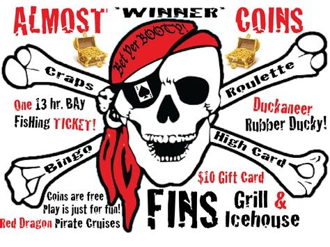 Pirates Giveaways - fun and prizes adult only pirate gaming cruise in port aransas tx red dragon