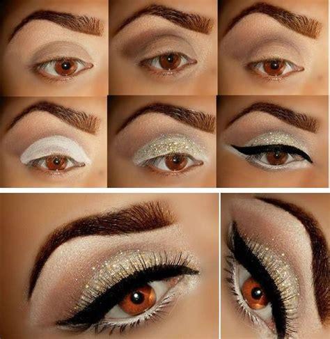 tutoriales de maquillaje para noche de labios y ojos maquillaje de noche dorado www pixshark com images