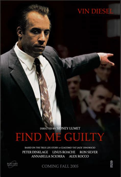 Find Guilty 2006 Film Movie Posters 2038 Net Posters For Movieid 1183 Find Me Guilty 2006 By Sidney Lumet