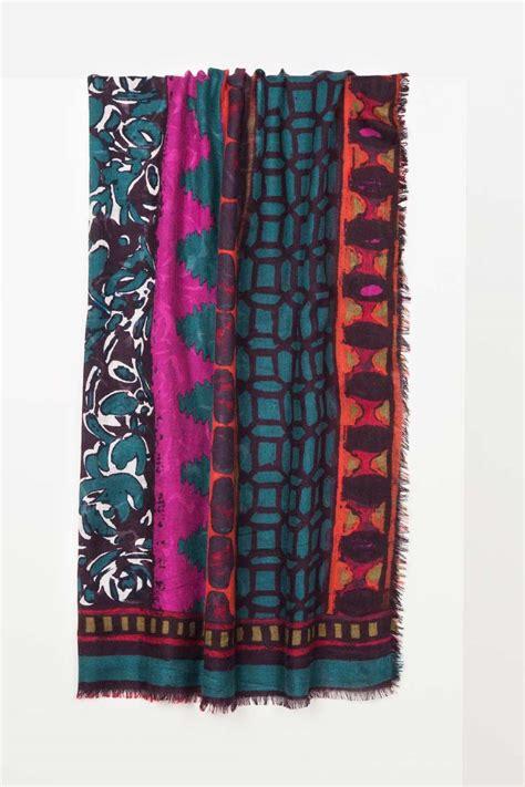 Patchwork Print - patchwork print scarf violet multi printed
