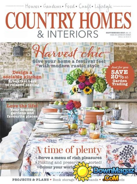 country home design magazines country homes interiors uk september 2015 187 download