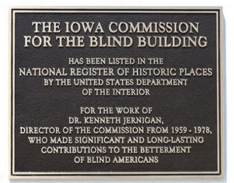 Iowa Commission For The Blind a monument to a and our movement yet one more honor