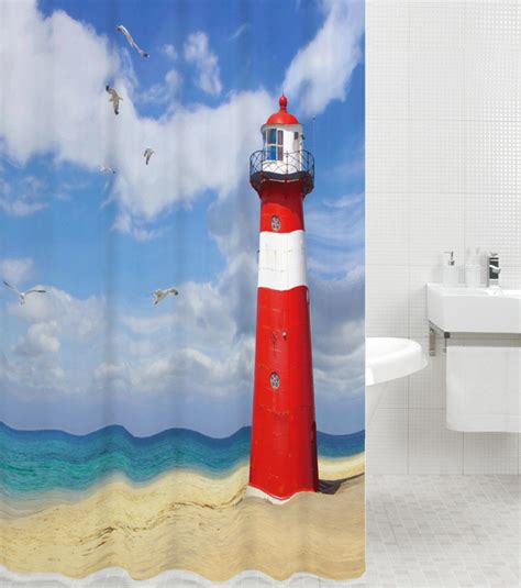 light house shower curtain shower curtain lighthouse 180 x 180 cm