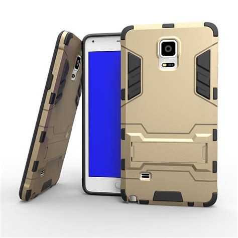 Samsung Galaxy Note 4 Sarung Armor Tpu Cover Casing for fundas samsung galaxy note 4 hybrid dual heavy duty 3d armor stand cases cover for