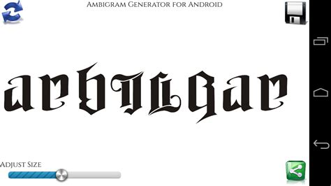 ambigram apk ambigram generator 2 1 apk android entertainment apps