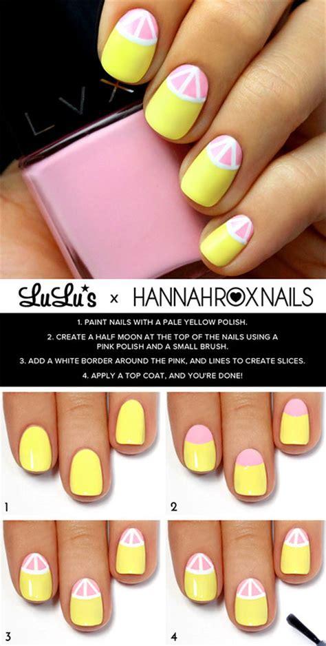 lemon nail art tutorial 18 easy step by step summer nail art tutorials for