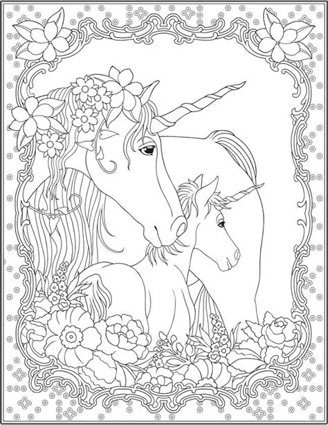 free printable coloring pages for adults unicorns 1391 best creative haven coloring pages by dover images on