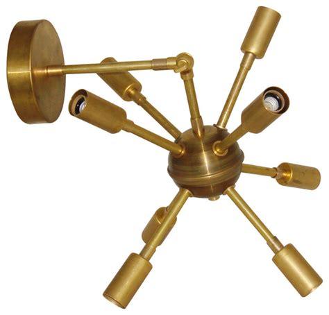 Sputnik Wall Sconce brass mid century modern sputnik starburst articulating sconce