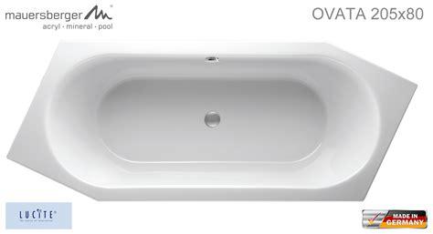 badewanne asymmetrisch mauersberger badewanne ovata asymmetrisch 205 x 80 cm