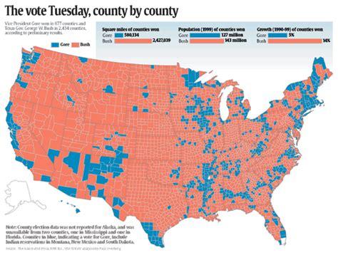 map of usa votes by county esri news 2001 arcnews usa today uses gis for