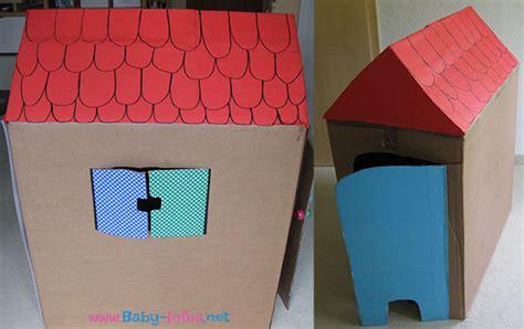 Umzugskarton Aufkleber Vorlage by Kinder Spielhaus Basteln Aus Pappe Anleitung Mit Bildern