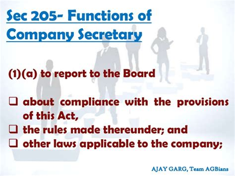 section 205 of the companies act role responsibilties of directors under companies act 2013