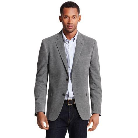 grey blazer tommy hilfiger washed corduroy blazer in gray for men