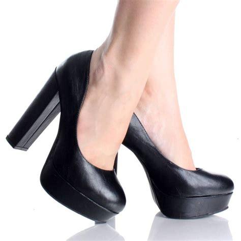 thick high heel pumps sepatuolahragaa black heels thick heel images