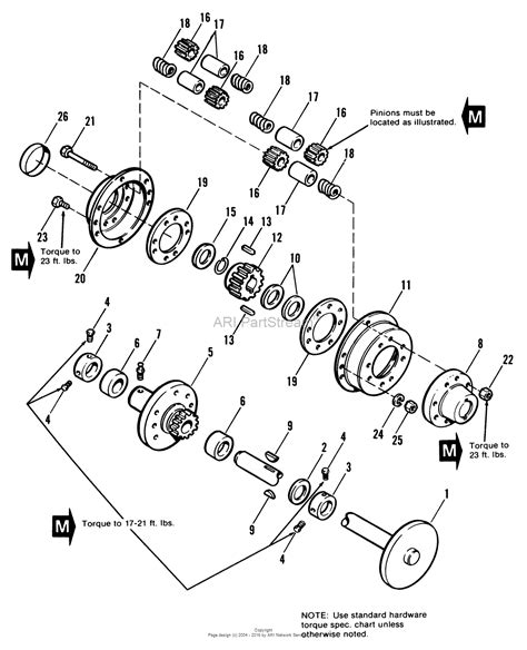 diagram of rear differential simplicity 1690519 917h 17hp hydro parts diagram for