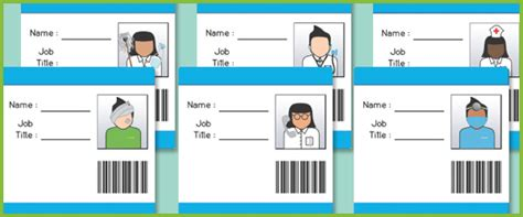 hospital id badges eyfs role play free early years