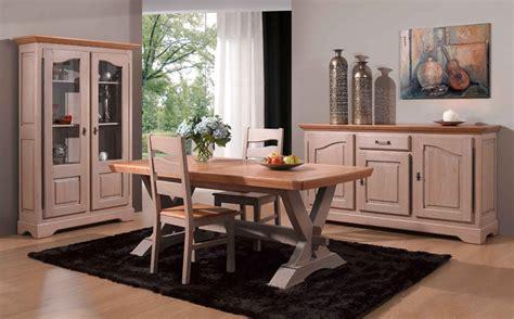 salle a manger bois massif salle 224 manger rustique ch 234 ne bi teinte meubles