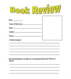 Book Template For Word by Sle Book Review Template 10 Free Documents In Pdf Word