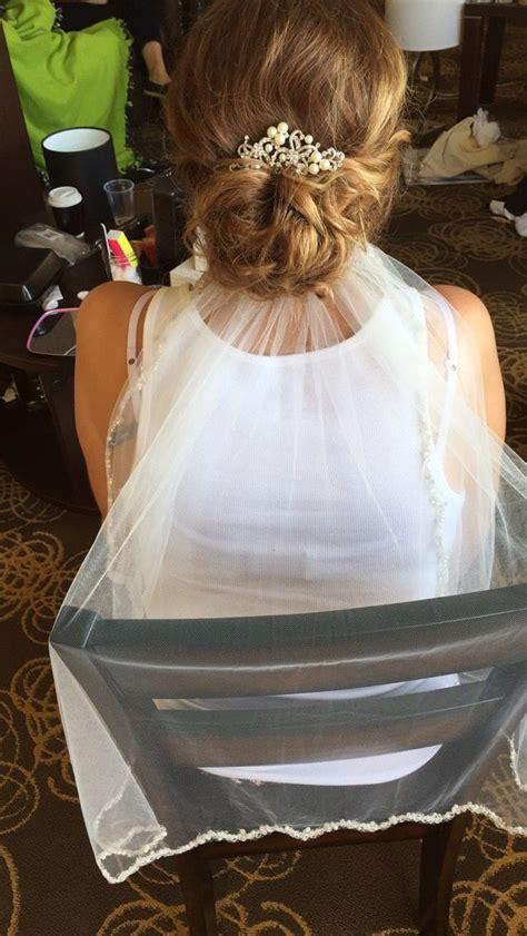 Wedding Updos With Veil Underneath by Bridal Updo With Veil Underneath Using All Redken Products