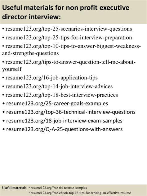 non profit resume sles top 8 non profit executive director resume sles