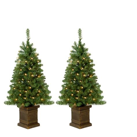 holiday living 3 5 ft pre lit potted artificial christmas
