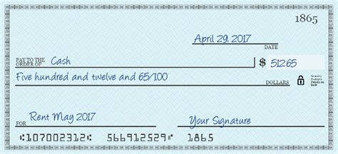how to write a check how to fill out a check writing a check