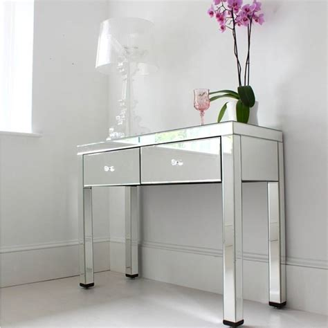 Glass Vanity Table With Mirror Mirrored Dressing Table By Out There Interiors Notonthehighstreet