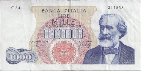 lire mille d italia 1000 lire 1965 10 viii 1962 1973 issues bank of
