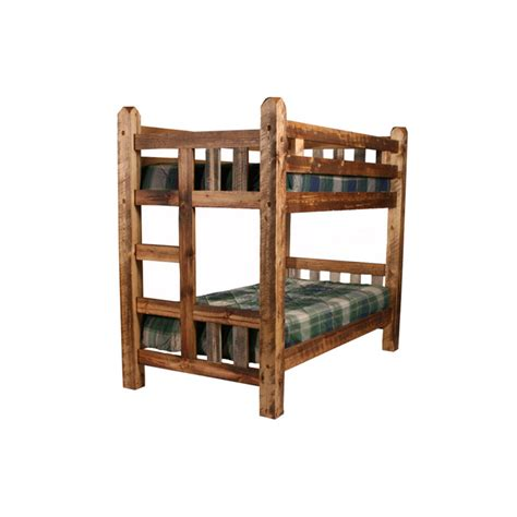 Wood Bunk Bed by Wasatch Reclaimed Wood Riverwood Bunk Bed