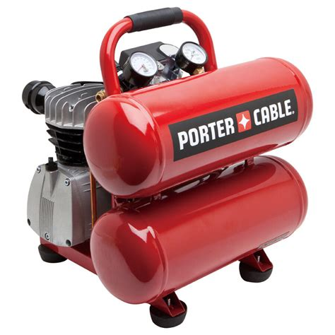 porter cable air compressor pcfp02040 4 gal stack tank lubricated electric ebay